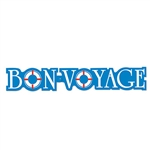 This Bon Voyage Streamer is blue like the ocean and two of the letters look like life preservers. Hopefully your friends won't need the life preservers, but they do add a nice touch to this decorative streamer. It measures 37 inches long.