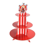 This Circus Tent Cupcake Stand is perfect for a circus theme party or a dessert table at a local carnival. This stand has three levels to arrange cupcakes and other sweet treats, which is plenty of room to organize some delicious treats. Stands 16 inches