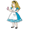 Bring Alice to wonderland at your upcoming party with our Jointed Alice in Wonderland cutout. This cutout of Alice stands 38 inches tall, which is over three feet tall! It will almost be like Alice is actually there at your party in Wonderland!