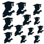 The Boy Graduate Silhouettes are made of black cardstock. Sizes range in measurement from 6 inches to 12 inches. Twelve (12) pieces per package.