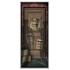 The Speakeasy Door Cover is made of all-weather plastic and measures 30 inches wide and 6 feet tall. Printed with a wooden door and various signs with shadows of policemen approaching. Printed one side. Contains one (1) per package.