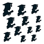 The Girl Graduate Silhouettes are made of black cardstock and printed on two sides. Sizes range in measurement from 6 inches to 12 inches. Contains 12 pieces per package.
