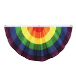 Rainbow Fabric Bunting, 4 ft