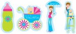 Showers of Joy Cutouts (4/pkg)