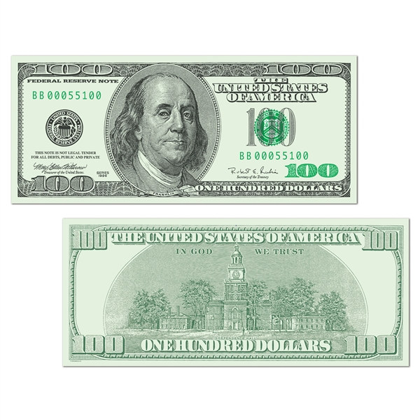 Big Bucks Cutout $100 Bill - PartyCheap
