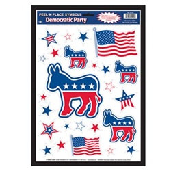 Democrat Party Peel N Place (25/sheet)