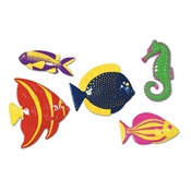 Assorted Plastic Fish (5/pkg)