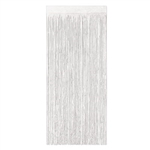 2-Ply Gleam N Curtain Metallic Curtain - White