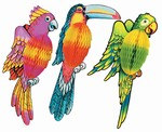 17 inch Art-Tissue Exotic Birds