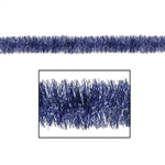 This lovely metallic blue & silver tinsel garland will help you decorate your home with festive style. Measuring approximately 4 inches in diameter and 100 feet in length, you can drape along entryways, staircases, or mantels.