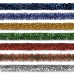 "4"" X 100' Gleam N Tinsel Holiday Garland (Choose Color)"
