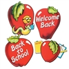 School Days Apple Cutouts, 16 inches (4/pkg)
