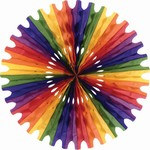 Rainbow Art-Tissue Fan