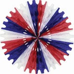 Red, White, and Blue Art-Tissue Fan