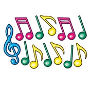 Neon Musical Note Silhouettes, 12-21 inches (12/pkg)