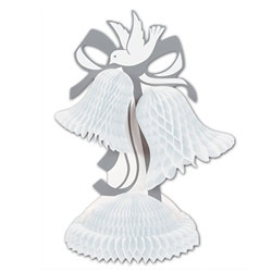 White Art-Tissue Bell Centerpiece