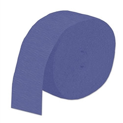 Blue Flame Retardant Crepe Streamer