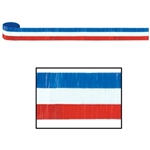 Red, White, and Blue Crepe Streamer