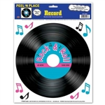 "These Record Peel N Places (9/sheet) are a great way to get your guests ""grooving"" to the music!"
