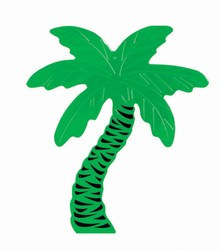 Foil Palm Tree Silhouette