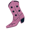 Foil Cowboy Boot Silhouette - Pink
