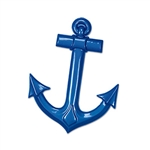 This blue plastic ship anchor adds the extra bit of detail to make your nautical party go swimmingly.