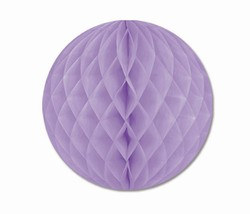 Lavender Art-Tissue Ball, 12 in
