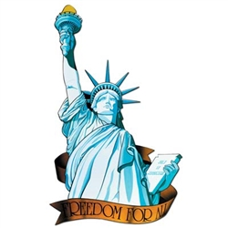 Miss Liberty Cutout