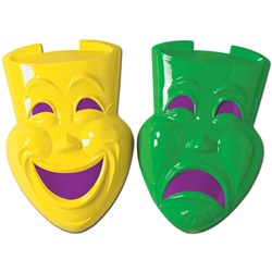 Comedy and Tragedy Faces, 2 designs (1/pkg)
