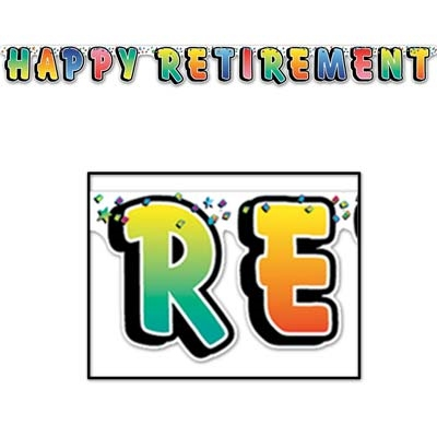 Happy Retirement Banner - PartyCheap