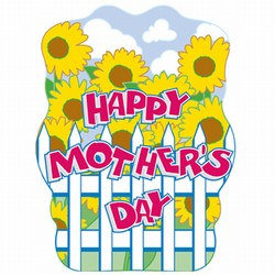Happy Mother's Day Sign, 12inx17in