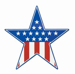 Red, White, and Blue Star Cutout