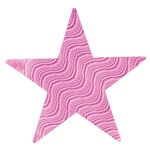 Pink Embossed Foil Star (5 inch)