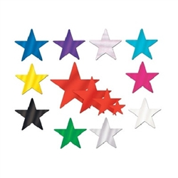 Whatever your party's theme, these Solid Color Foil Stars add the twinkle and shine that your guests will remember for a lifetime. They make great souvenirs and take-homes and are just right for scrap booking the memory.