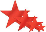 Red Foil Star (5 inch)
