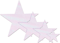 Opalescent Foil Star (15 inch)