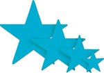 Turquoise Foil Star (9 inch)