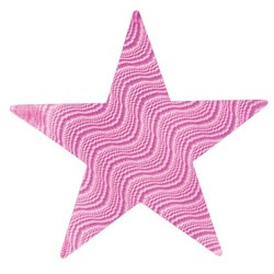 Pink Embossed Foil Star (12 inch)