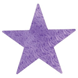 Purple Embossed Foil Star (12 inch)