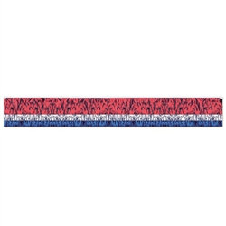 3-Ply Flame-Resistant Metallic Fringe Drape (Red/Silver/Blue)