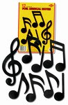 Foil Musical Note Cutouts, 5-10 inches high