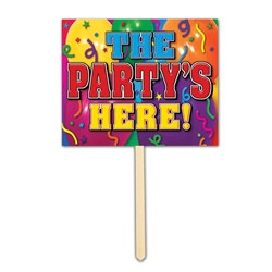 Partys Here Yard Sign