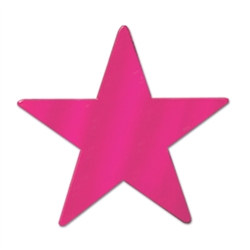 Cerise Metallic Star Cutouts (12/Pkg)