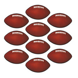 Mini Football Cutouts (10/pkg)