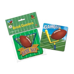 Game Day Football Coasters (8/pkg)