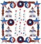 Patriotic Metallic Decorating Kit