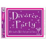 Divorce Party Peel N Place (1/sheet)