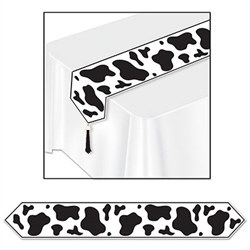 Printed Cow Print Table Runner