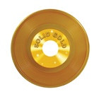 Gold Plastic Record