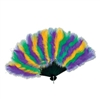 Mardi Gras Feather Fan